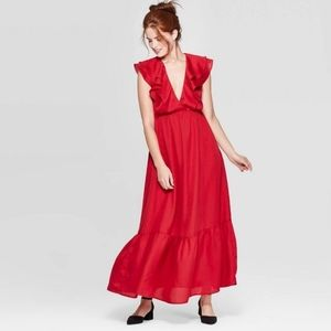 A New Day Red Maxi Dress